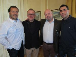 Da destra: Marco Maestri, Richard Geoffroy, Alberto Lupetti ed Io.