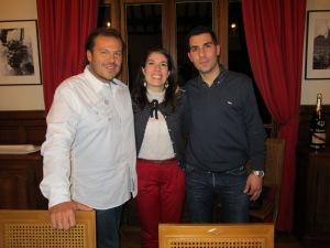 Da sinistra: Marco Maestri, Angela Bustamante, Io