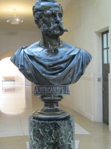 Il busto dello Zar Alessandro II